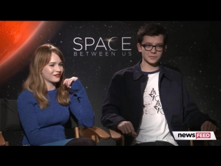 Asa Butterfield, Britt Robertson Spill On Filming The Space Between Us Reveal Guilty Pleasures