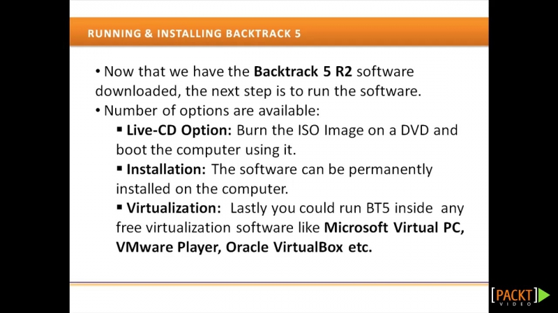 03 BT5 Wireless Penetration Testing.Setting Up BackTrack (Download and Installation)