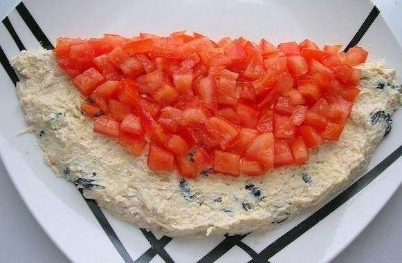 """Салат """"Арбуз"""" Для приготовления салата понадобятся следующие ингредиенты*: отварное"""