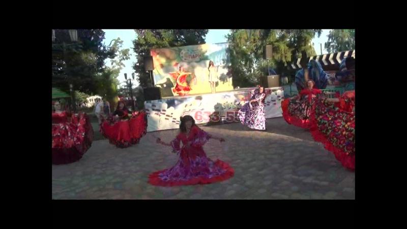ХОП, ХОП, ХОП - поет Ирина Шишлянникова танцует ансамбль В Мире Танца - цыганское шоу