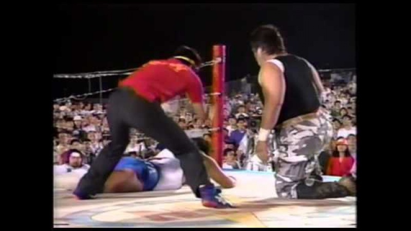 FMW Atsushi Onita vs Mr. Pogo (Electrified Exploding Barbed Wire Double Hell Death Match) 7/24/93