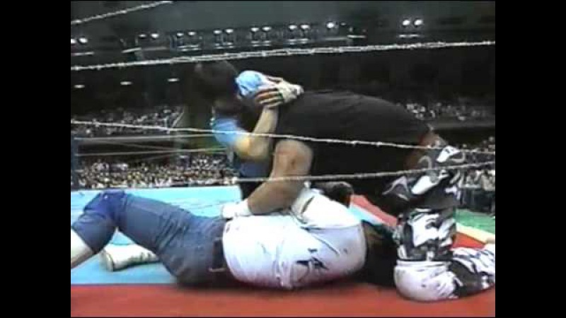 FMW - Atsushi Onita vs Mr. Pogo (5/4/95) No Rope Barbed Wire Double Hell Death Match
