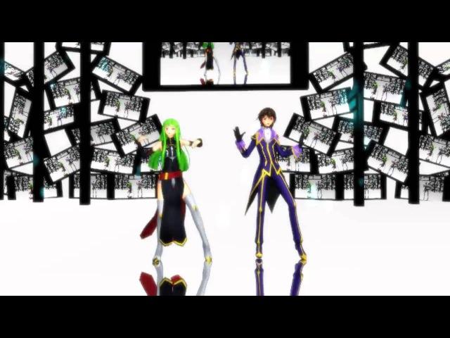 【MMD】Nou Shou Sakuretsu Girl 【Lelouch x C.C.】