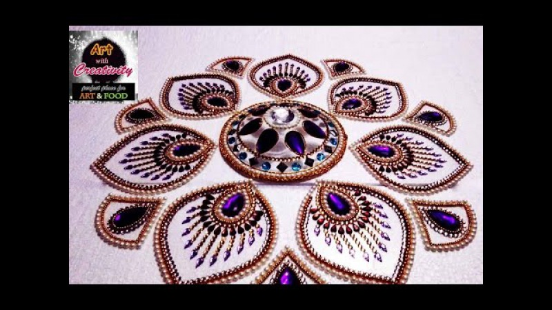 How to make a Kundan Rangoli | Art with Creativity