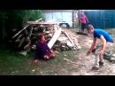 Махач алкашей в селе Драки в деревне Пьяная драка в селе Drunk rural brawl