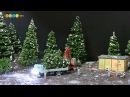 Diorama Miniature Christmas Tree Farm ミニチュア冬の風景作り クリスマスツリーの出荷作業を