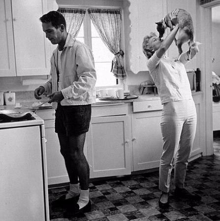 КУХНИ Все мы иногда заходим на кухню. Так поглядим на кухню глазами историка!Слева образцовая кухня 50 летней давности. Кое-что устарело. Например, окна с деревянными рамами, занавески (сейчас