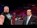 Brock Lesnar and Paul Heyman RAW 545 TV