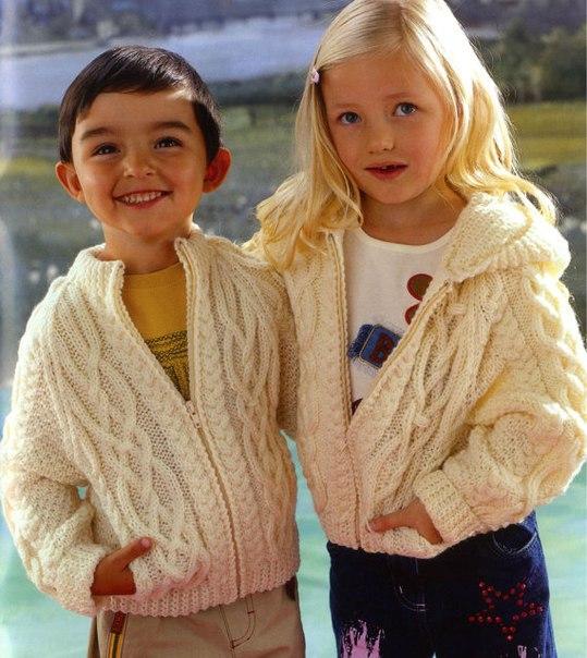 Вязание спицами для девочек аранами