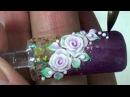 Dạy vẽ móng nghệ thuật tại NailViet, hướng dẫn đắp hoa hồng trên móng