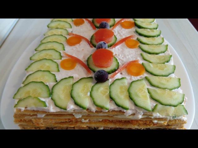 ОБАЛДЕННЫЙ НАПОЛЕОН с РЫБОЙ Закусочный торт Мой СЕКРЕТНЫЙ рецепт) » Freewka.com - Смотреть онлайн в хорощем качестве