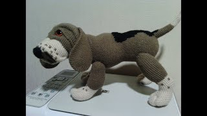 Собака Бигль, ч.3. Dog Beagle, р.3. Amigurumi dog. Амигуруми собака.