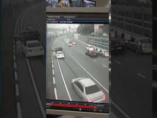 Авария на дублере при съезде с ул. Чайковского в Сочи