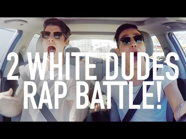 2 WHITE DUDES RAP BATTLE! CARPOOL WITH GABRIEL (feat. Jacko Brazier)