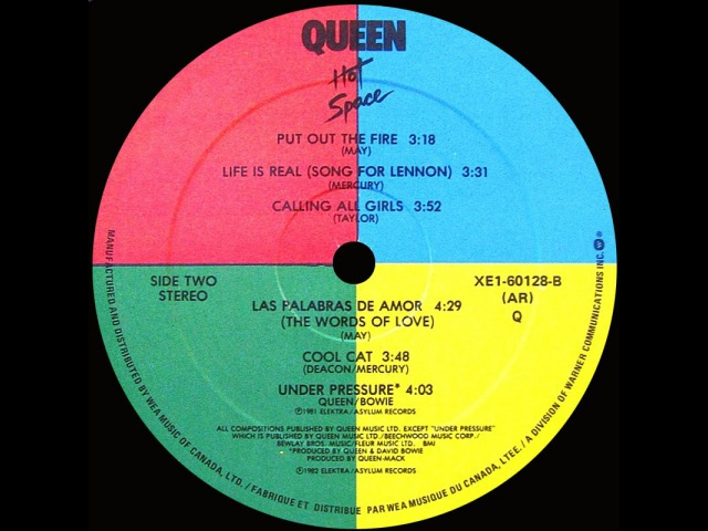 Queen ft Bowie ~ Cool Cat 1982 Disco Purrfection Version