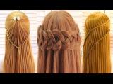 Топ 5 Прически Коса водопад. Top 5 Amazing Hairstyle Tutorial Compilation 2017