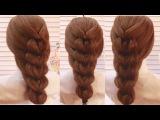 Французская Коса на Резинках. French Braid Amazing Hairstyle Tutorial Compilation 2017