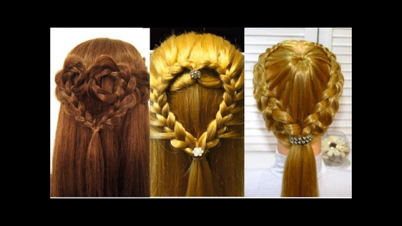 Прически Сердце из волос на день Святого Валентина. Valentine's day hairstyles