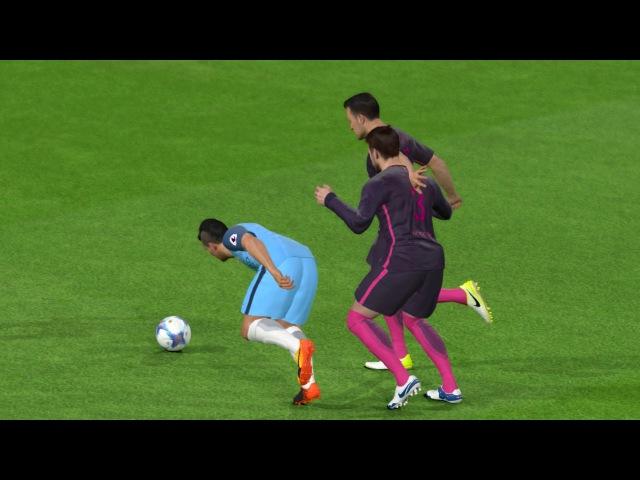 PES 2017 | Manchester City vs Barcelona | Full Match goals 2017 | Gameplay PC