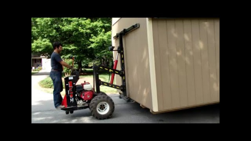 One Man Show - Delivery Set up of 12x20 Amish Shed