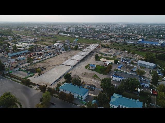 Строительство путепровода Зубачёва - Поплавского. Брест