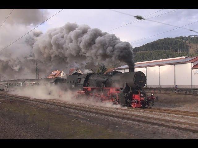 Steam Trains - Dampflok Parallelfahrt auf der Schwarzwaldbahn