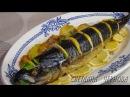 Скумбрия с овощами запеченная в духовке-Mackerel with vegetables baked in the oven