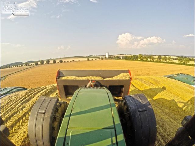 GPS Ernte Biogasanlage Großgarnstadt | Fendt | Krone | Silage | Häckseln [HD]