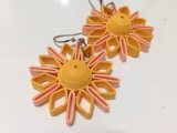 Quilling earrings solar star