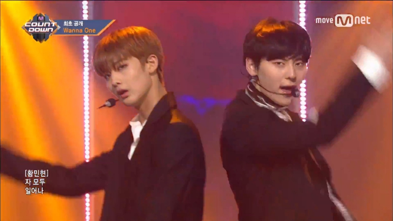 170810 Wanna One Burn It Up Debut Stage X M Countdown