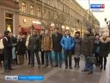В центре Петербурга песни военных лет исполнили участники коллектива