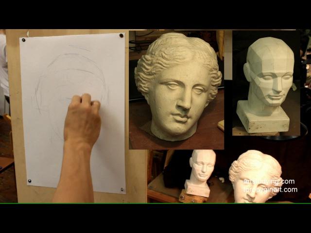Афродита (1). Обучение рисунку. Портрет. 40 серия » Freewka.com - Смотреть онлайн в хорощем качестве