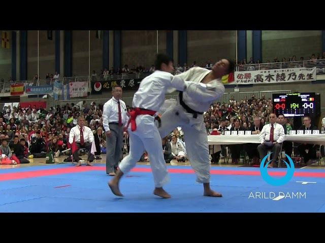 IPPON Jodan Tsuki Japan vs Belgium Team Kumite JKA World Karate Championships 2017