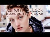 CANON EOS 77D, EOS REBEL T7i and EOS M6 First Look with Alexis Stember Coulter