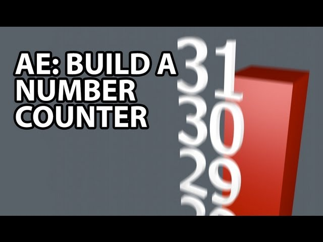 After Effects Tutorial: Number Counter (Intermediate) обратный отсчет