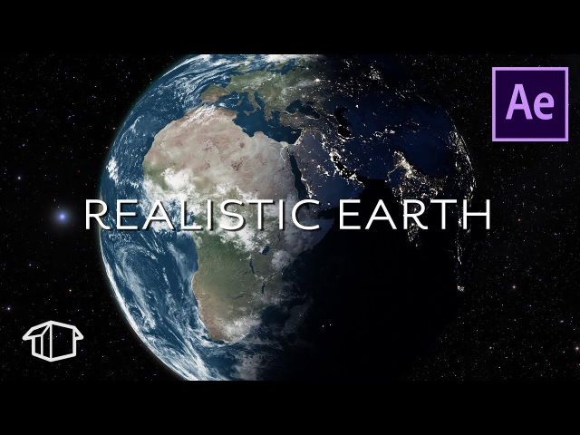 How to make a Realistic Earth in Space Tutorial - After Effects (No Plugins)
