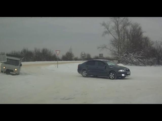 Уфа авария ДТП на ровном месте собака в недоумении