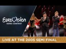 Donna and Joe Love Ireland Live Eurovision Song Contest 2005