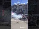 Жесть! Горит машина на ул. Масленникова - ДТП 05.06.2017