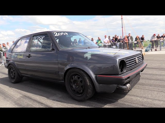 950HP VW GOLF 2 VR6 Turbo 1 2 Mile Run In 17 37 Seconds