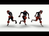 Character animation for the game. Kamikaze. Idle. Walk. Run. Attack.