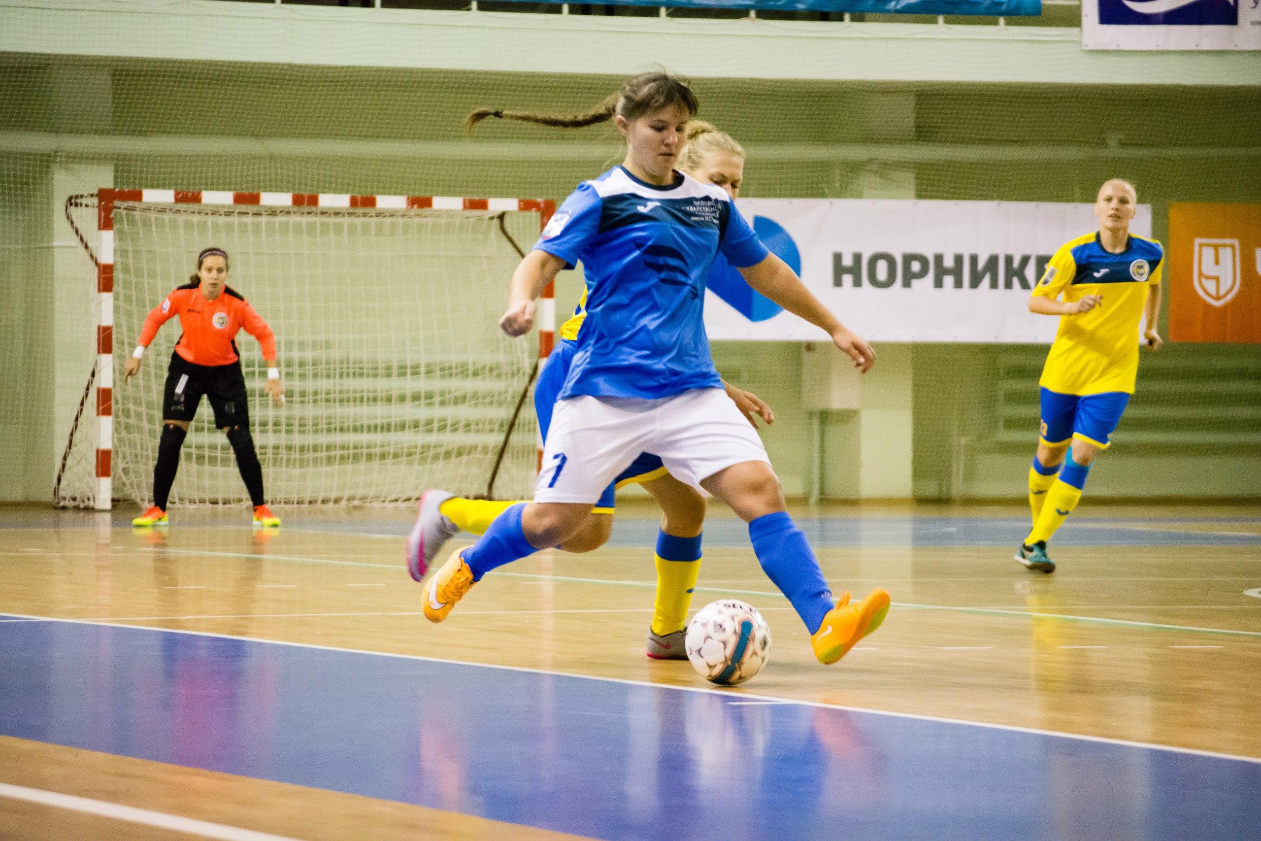 Футболистки ОрелГУ возглавили таблицу Кубка России