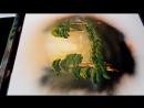 (HD) Spray paint art Forest in dreamcatcher