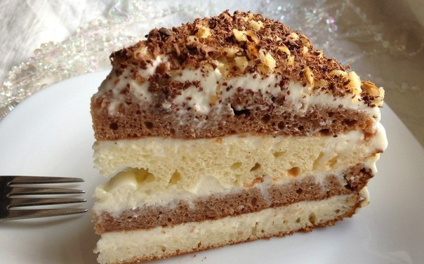 Бисквит сметанный рецепт с фото пошагово