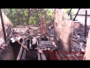 (ENG SUBS) Ukraine artillery attack on northern Donetsk burns home to ground.