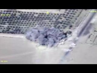 Удары ВКС РФ по ИГИЛ в районе Дейр-эз-Зор