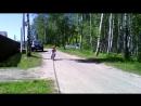 Тимофей покоряет велосипед