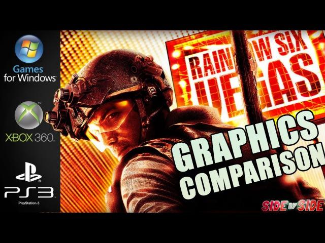 Rainbow Six Vegas | Graphics Comparison | ( PC , XBOX 360 , PS3 )