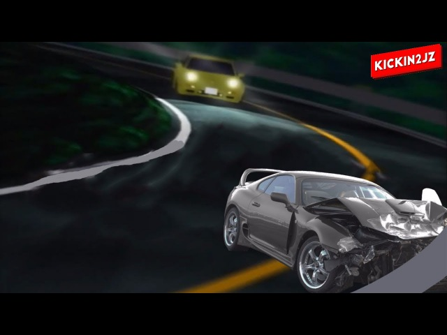 Initial D Inertia Drift Toyota Supra Crash Fail