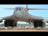 Monstrously Powerful US Jet Bomber in Action Rockwell B-1 Lancer in Large Formation